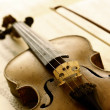 Antique violin with fiddlestick — Stock Photo #10235607