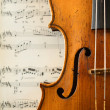 Part of an antique violin — Stock Photo