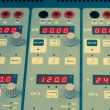 Digital display and control knobs - Stockfoto