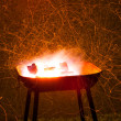 Abstract burning barbecue grill — Stock Photo