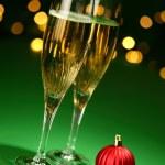 Champagne glasses — Stock Photo
