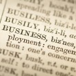 Royalty-Free Stock Photo: Dictionary definition of the word business