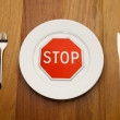 Stock Photo: Diet concept - stop eat