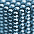 Stock Photo: Closeup of metal spheres