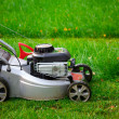 Stock Photo: Lawn mower closeup