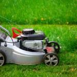 Lawn mower closeup — Stock Photo