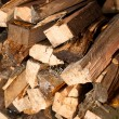 Wood log stockpile background - Stock Photo