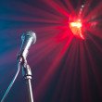 Music microphone — Stock Photo