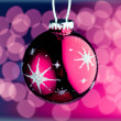 Purple Christmas ball — Stock Photo