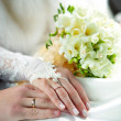 hands of newlyweds — Stock Photo #10239004