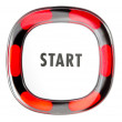 Stock Photo: Red start button