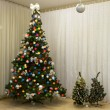 Christmas-tree with lights — Stock Photo