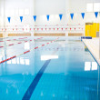 Interior of public swimming pool — Stock Photo