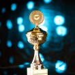 Gold trophy — Stock Photo