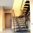 Modern staircase and door — Stock Photo