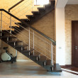 Modern staircase and door - Stock Photo