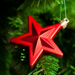 Christmas decoration - red star — Stock Photo #10239420