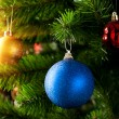 Stock Photo: Christmas decoration with shiny glare