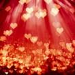 Shiny hearts background — Stock Photo #10239519