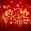 Shiny hearts background — Stock Photo