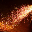 Metal welding sparks — Stock Photo