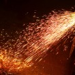 Metal welding sparks - Stock Photo
