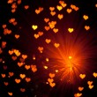 Stock Photo: Shiny hearts background