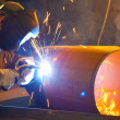 Welder at work - Stockfoto