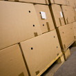 Cardboard boxes in the storehouse — Stock Photo