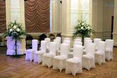 Wedding hall and chairs — Stock Photo