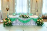 Tavolo di nozze di lusso — Foto Stock