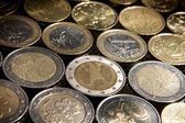Coins background — Stockfoto