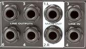 Mixer inputs and outputs — Stock Photo