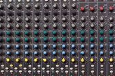 Mixing console — Stockfoto