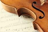 Del av en antik fiol — Stockfoto