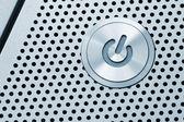 Silver power button — Stock Photo