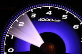 Illuminated speedometer — Stock Photo