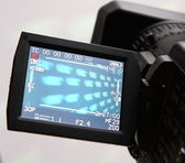 Display of an full HD camcorder — Stock Photo