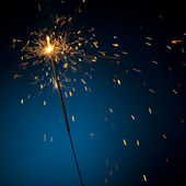 Burning sparkler — Stock Photo