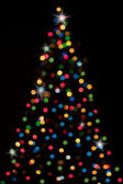 Christmas-tree with lights — 图库照片