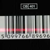 Barcode with red laser strip — Stock Photo