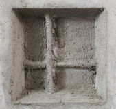 Abstract cement window — Stock Photo