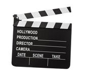 Clapper board isolated on white — Stock Photo