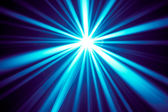 Blue disco rays — Stock Photo