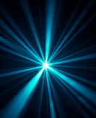 Blue disco lights background — Stock Photo
