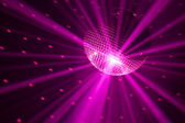 Purple party lights background — Stock Photo