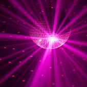 Purple party background — Stock Photo