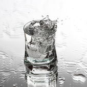 Vodka splash — Stock Photo