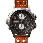 Reloj de pulsera closeup, aislado en blanco — Foto de Stock