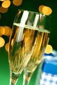 Champagne glasses closeup — Stock Photo